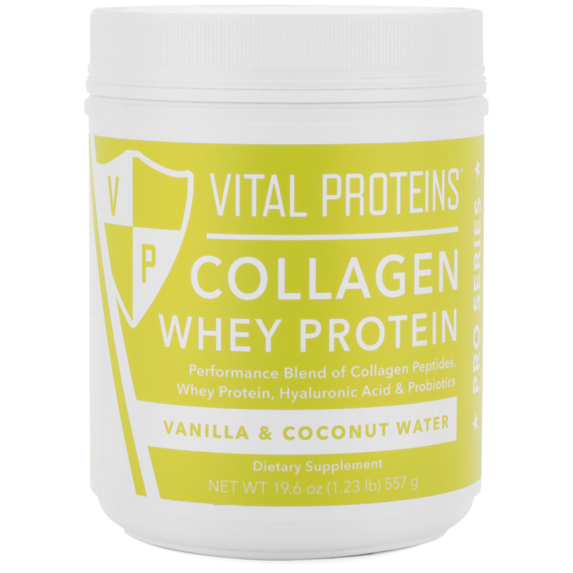 Vital Proteins Collagen Whey Protein - Vanilla & Coconut Water product swatch.
