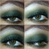Smoldering green smoky eye