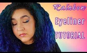 Rainbow Eyeliner Tutorial (NoBlandMakeup)
