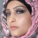 Pink and black smokey arab look