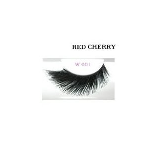 Red Cherry Shimmer & Feather Lashes - W001