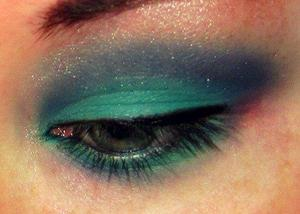 My fave look! Teal and Purple!