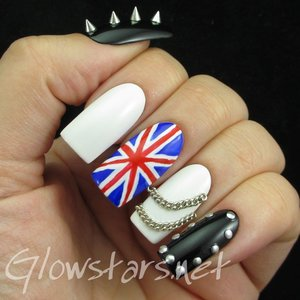 Read the blog post at http://glowstars.net/lacquer-obsession/2015/05/black-and-white-series-elegant-nail-art-show-new-135-purple-017-and-rock-01/