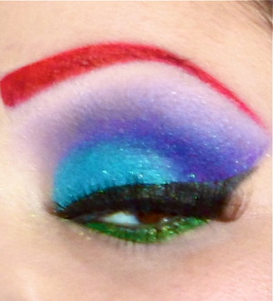 blended shadow colors were inspired by Ariel from the Little Mermaid.