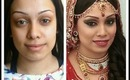 Indian/Asian Bridal Makeup Hair Dupatta setting