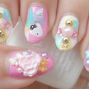 Cute Unicorn Gyaru Nail Art