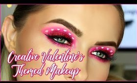 CREATIVE CUT OUT HEARTS VALENTINES THEMED MAKEUP LOOK! | shivonmakeupbiz
