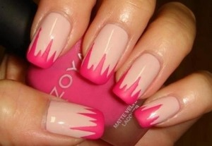 Striking spikes! Zoya pink matte polish xx