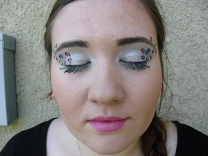 rainbow cheetah!! i used my friend briana has my model for this look