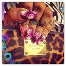 Hearts & Print Nails (:
