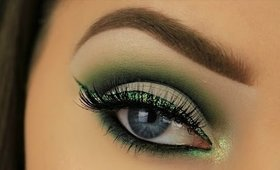 St. Patrick's Day Makeup 2017 | Cut Crease and Glitter Liner