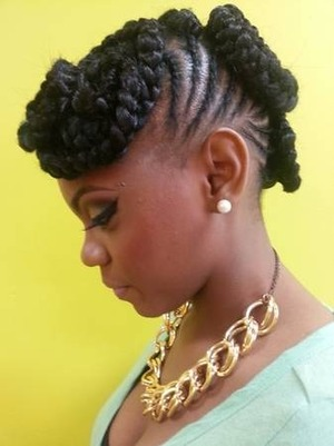 Updo on natural done by @genastylez