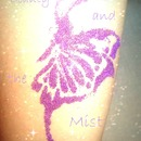 Purple butterfly with Glitter Tattoo