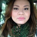 Green eye liner.