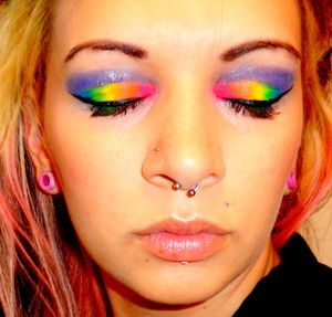 Who doesn't love rainbows! The entire neon collection from myomakeup.com!