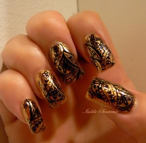 OPI Skyfall collection / GoldenEye stamping: Black