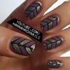 Abstract Colorblock Nail Art