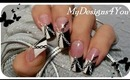 MONOCHROME CHAINS EFFECT FRENCH NAIL ART- ♥ MyDesigns4You ♥