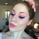 Feminine Pink & Royal Purple Glitter Eyeliner Makeup Tutorial