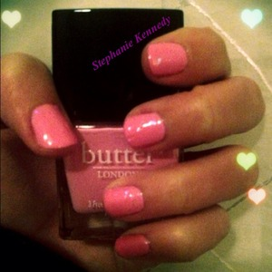 This shade is Fruit Machine by Butter London. It is my favorite shade of pink and a beautiful, high quality polish.