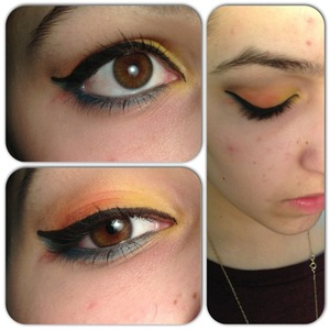 A look I did to match a costume. Not the best shots:/