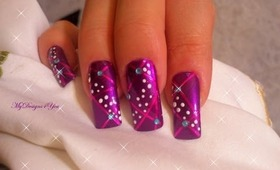 Easy, Purple, Christmas, New Year's Nail Art Design Tutorial - ♥ MyDesigns4You ♥