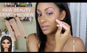 KKW Beauty Crème Contour + Highlight Kit ( DARK ) | Demo + Review | Mo Makeup Mo Beauty