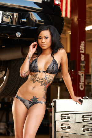 I did hair & Makeup on Model Denise boodie for Urban Ink Mag