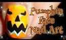 DIY Pumpkin Face ~ Halloween Nail Art Tutorial