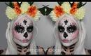 Sugar Skull Makeup Tutorial & Costume (Day of the Dead Halloween Makeup Tutorial 2013)