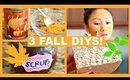 3 FALL DIYS! DIY PUMPKIN SPICE SOAP, DIY PUMPKIN SPICE LATTE SCRUB, DIY PUMPKIN FACE MASK!
