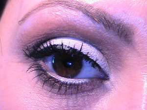 Gesso on lid, coppering& Rule in crease cut by Brun. All products by MAC. 1/1/2012