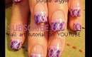 argyle nail design in pink and lavender purple: robin moses nail art tutorial