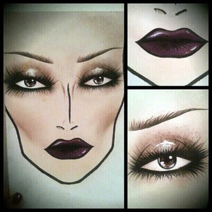 My fifth face chart, inspired by my favourite fashion designer: Gareth Pugh.