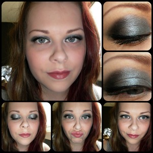 Silver & Black smokey look