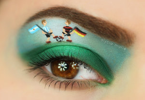 Little special for the World Cup 2014 FINALE! Watch me create this look: http://youtu.be/x_ZajBsujxk