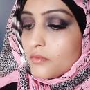 Pink and Black smokey arab look