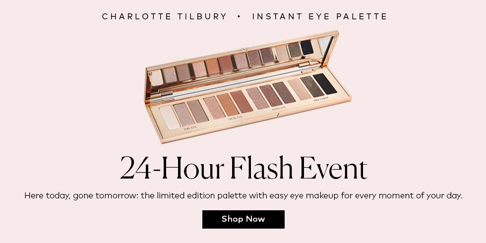 Charlotte's new palette is here—for 24 hours only. Shop now!