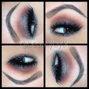 Teal brown eyeshadow
