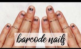 Minimalistic Monday No. 25   Barcode Nail Art ♡