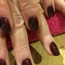 Gel Polish, Burgundy Nail Art
