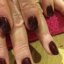 Gel Polish, Burgundy Nail Art