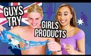 GUYS TRY GIRLS PRODUCTS | AUSTRALIA EDITION!