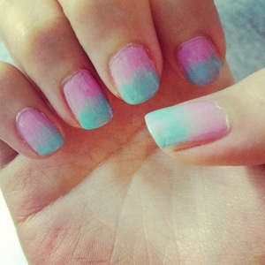 An instagramed picture of one of my fave manis: a lovely combination of two of the biggest trends this year -- pastel colors and ombre.