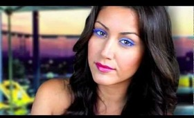 Electric Blue EYELASHES_Swanky Hotel Pool Party_Summer Makeup Tutorial