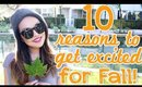 10 Reasons To Get Excited For Fall!