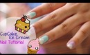 Cupcake / ice cream nail tutorial