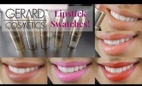 Gerard Cosmetics Lipstick Swatches!