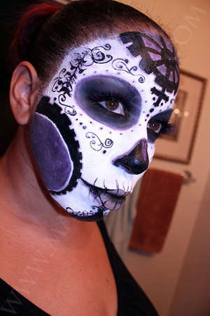 My recreation of the Dia De Los Muertos Makeup drawn by Joe Benitez of his character Lady Mechanika.