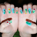Spring Flowers nails